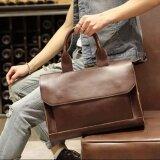 ราคา Osaka กระเป๋าสะพายไหล่ผู้ชายหรือถือ หนัง Pu สไตล์ย้อนยุค รุ่น Ne54 สีกาแฟ ใน ไทย