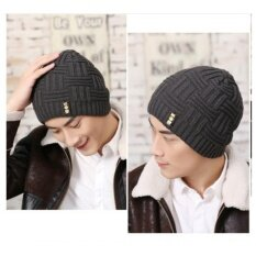 OSAKA หมวกผ้าไหมพรม สไตล์เกาหลี รุ่น UP50 (สีเทา)