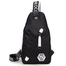 ราคา Otzi กระเป๋าสะพายไหล่ สะพายข้าง คาดหน้าอก สไตส์เกาหลี สีดำ Unbranded Generic กรุงเทพมหานคร