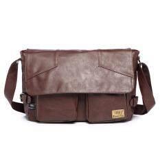 ขาย Otzi Threebox กระเป๋าสะพายไหล่ สะพายข้าง หนัง Pu สไตส์คลาสสิก วินเทจ สีน้ำตาลเข้ม ถูก ใน กรุงเทพมหานคร