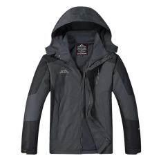 ซื้อ Outdoor Jacket เสื้อแจ็คเก๊ต กีฬา กันน้ำ สำหรับท่องเที่ยว เดินป่า Camping สำหรับผู้ชาย รุ่น S16 สีเทาดำ ออนไลน์