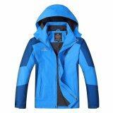 ราคา Outdoor Jacket เสื้อแจ็คเก๊ต กีฬา กันน้ำ สำหรับท่องเที่ยว เดินป่า Camping สำหรับผู้ชาย รุ่น S16 สีฟ้าน้ำเงิน ที่สุด