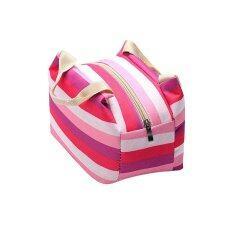 ซื้อ อาหารกลางวันแบบปิกนิกกลางแจ้งท่องเที่ยวแบบพกพากระเป๋าหิ้วถุงบรรจุกล่องกระเป๋าสีม่วง ใหม่