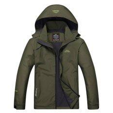 ขาย Outdoor Sport Jacket Stl เสื้อแจ็คเก๊ต กีฬา กันน้ำ สำหรับท่องเที่ยว เดินป่า Camping สำหรับผู้ชาย รุ่น S15 สีเขียว เป็นต้นฉบับ