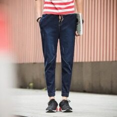 ซื้อ Outlet ผู้ชายยีนส์กางเกงสีน้ำเงินเข้ม นานาชาติ ออนไลน์