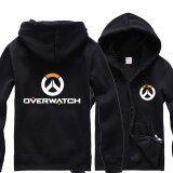 ราคา Overwatch Symbol Game คอสเพลย์เสื้อแจ็คเก็ตสตรีผู้ชายลำลอง เสื้อกันหนาว Hoodie Coat Collection สีดำ