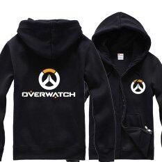 ซื้อ Overwatch Symbol Game คอสเพลย์เสื้อแจ็คเก็ตสตรีผู้ชายลำลอง เสื้อกันหนาว Hoodie Coat Collection สีดำ ใหม่