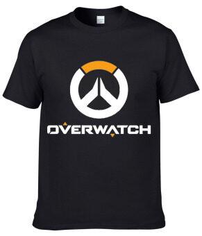 Overwatch เสื้อยืดเกมผ้าฝ้าย 100% โอ๊ยเสื้อลำลองเสื้อกล้ามคอ (สีดำ)