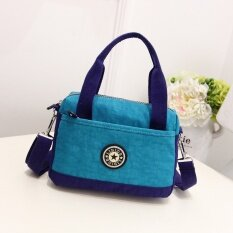 ขาย กระเป๋าถือผ้าแคนวาสมีสายสะพายไหล่สำหรับผู้หญิงสไตล์เกาหลี ทะเลสาบสีฟ้า ทะเลสาบสีฟ้า ใน ฮ่องกง