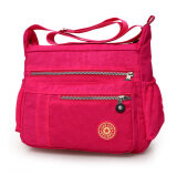 ขาย กระเป๋าสะพายผ้าออกซ์ฟอร์ดสำหรับผู้หญิงมีหลายสี ดอกกุหลาบสีแดง ดอกกุหลาบสีแดง Other