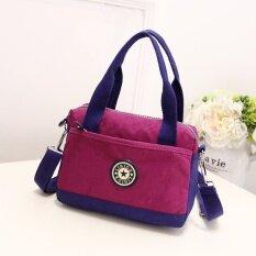 โปรโมชั่น กระเป๋าถือผ้าแคนวาสมีสายสะพายไหล่สำหรับผู้หญิงสไตล์เกาหลี สีม่วง สีม่วง ใน ฮ่องกง