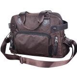 ราคา Messenger ผ้า Oxford กระเป๋าสะพายธุรกิจแบบพกพา คลาสสิกสีน้ำตาล ใหม่