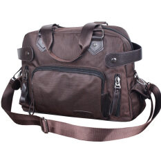 ขาย Messenger ผ้า Oxford กระเป๋าสะพายธุรกิจแบบพกพา คลาสสิกสีน้ำตาล ฮ่องกง ถูก