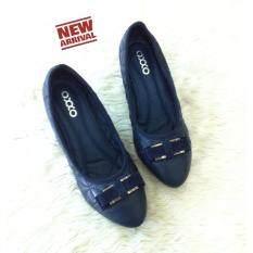 ขาย ซื้อ Oxxo รองเท้าคัทชูส์ส้นเตารีด รุ่น X12091 สีกรม