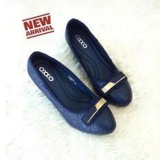 ขาย ซื้อ Oxxo รองเท้าคัทชูส์ส้นเตารีด รุ่น X12095 สีกรม กรุงเทพมหานคร