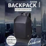 กระเป๋าเป้ Ozuko รูปทรง 3D คงทนแข็งแรงใส่ของได้เยอะมีช่องซิปภายใน Notebook แฟ้มเอกสาร เสื้อผ้า โทรศัพท์มือถือ อื่นๆ สีดำ ใหม่ล่าสุด
