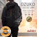 ซื้อ Ozuko รุ่น Ks กระเป๋าแฟชั่น กระเป๋าไปเที่ยว กระเป๋าโน๊ตบุ๊ค ไม่เกิน15นิ้ว สไตล์เกาหลี เท่สุดๆ จุของได้เยอะ กันน้ำ มีช่องUsb สีดำ ใหม่