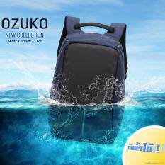 ซื้อ กระเป๋าเป้ Ozuko มี Usb Port ชาร์จโทรศัพท์ คงทนแข็งแรงใส่ของได้เยอะมีช่องซิปภายใน Notebook แฟ้มเอกสาร เสื้อผ้า โทรศัพท์มือถือ อื่นๆ สีน้ำเงิน ถูก