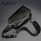 ขาย Padieoe Genuine Leather Men S Chest Pack For Phone Tablet Fashion Trending Crossbody Bag For Male Summer Shoulder Sling Bag Intl