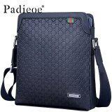 ราคา Padieoe New Fashion Men Bags Split Leather Printing Casual Messenger Bag Youth Shoulder Bag Men Bag 10 6Inch Blue High Quality Intl เป็นต้นฉบับ