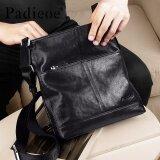 ราคา Padieoe New Men Shoulder Bag Genuine Cow Leather Crossbody Bag Business Messenger Bag Soft Male Bag Black 10 6Inch Intl Padieoe ใหม่