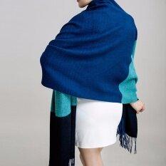 ขาย ผ้าคลุมไหล่ Palio ผ้าพันคอ ผ้าคลุม สี Dark Blue Sky Blue Black ไทย ถูก