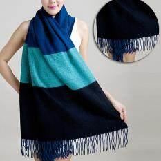 ราคา ผ้าพันคอ Palio ผ้าคลุม ผ้าคลุมไหล่ สี Dark Blue Sky Blue Black ใหม่ล่าสุด