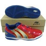 ราคา รองเท้ากีฬา รองเท้าฟุตซอล Pan 14K7 Force 2 แดงน้ำเงิน Pan เป็นต้นฉบับ
