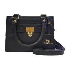 ซื้อ P P Fashion Women Bag กระเป๋าสะพายพาดลำตัว แฟชั่น สีดำ ถูก