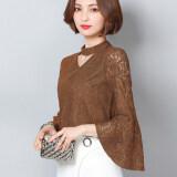 ซื้อ ใหม่หญิงเสื้อลูกไม้ฤดูใบไม้ผลิรุ่นเสื้อ Park S สี ออนไลน์