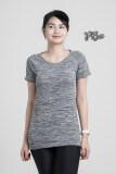 ซื้อ Pbx Exercise Lady T Shirt เสื้อออกกำลังกาย ฟิตเนท ปั่นจักรยานพิลาทิสสำหรับผู้หญิง สีเทา