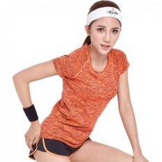 ส่วนลด Pbx Exercise Lady T Shirt เสื้อออกกำลังกาย ฟิตเนท ปั่นจักรยาน พิลาทิสสำหรับผู้หญิง สีส้ม