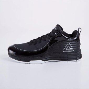 PEAK รองเท้า บาสเกตบอล Basketball shoes ทุกสภาพ สนาม พีค รุ่น E63141A - Black