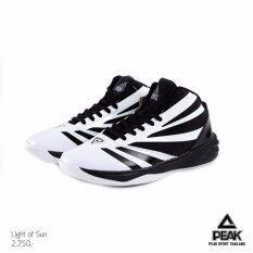 ขาย Peak รองเท้า บาสเกตบอล Basketball Shoes ทุกสภาพ สนาม พีค รุ่น E64081A White Black ถูก