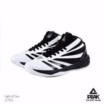 PEAK รองเท้า บาสเกตบอล Basketball shoes ทุกสภาพ สนาม พีค รุ่น E64081A - White/Black