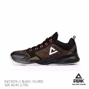 PEAK รองเท้า บาสเกตบอล Basketball shoes พีค รุ่น EW7207A - Black/Red