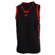 ซื้อ Peak เสื้อ ผ้า กีฬา บาสเกตบอล Basketball Sport Jersey พีค รุ่น F7131081 Black Peak