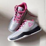 โปรโมชั่น Peak รองเท้า บาสเกตบอล Women Basketball Shoes ทุกสภาพ สนาม พีค รุ่น E53392A Gray Pink Peak
