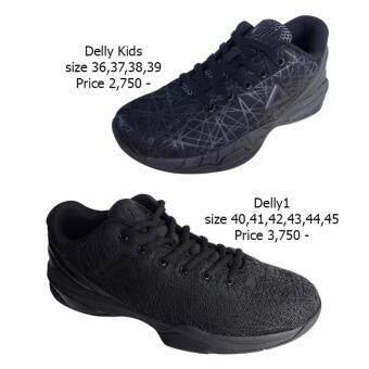 PEAK รองเท้า บาสเกตบอล สำหรับแข่ง NBA Basketball shoesDelly 1 ทุกสภาพ สนาม พีค รุ่น EW7201A - Black