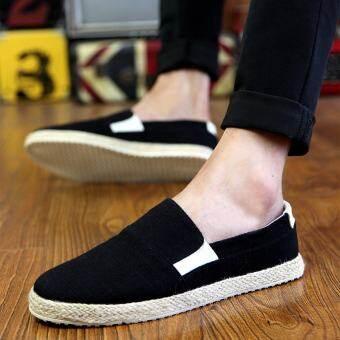 ผลิตภัณฑ์ใหม่สำหรับฤดูร้อนระบายอากาศรองเท้า Tods ผู้ชายผ้าใบแฟชั่นรองเท้าลำลองคนขี้เกียจรองเท้าผู้ชายสไตล์เกาหลีรองเท้าผ้าปักกิ่งโบราณ
