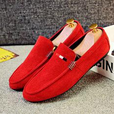 ความคิดเห็น ใหม่ฤดูใบไม้ผลิ Peas รองเท้าผู้ชาย D78 สีแดง