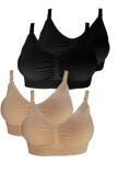 โปรโมชั่น Perfect Bra เสื้อชั้นในให้นมบุตร Nursing Bra ใส่ได้ตั้งแต่ตั้งครรภ์ รุ่นใหม่ ไร้รอยต่อทั้งตัว เซต 4 ตัว 2 สี สีเนื้อ สีดำ Perfect Bra ใหม่ล่าสุด