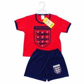 Periquita ไซส์ 1-6 ปี เซ็ต 2 ชิ้น ชุดกีฬาเด็ก ชุดฟุตบอลเด็ก ทีมชาติอังกฤษ สีแดง-