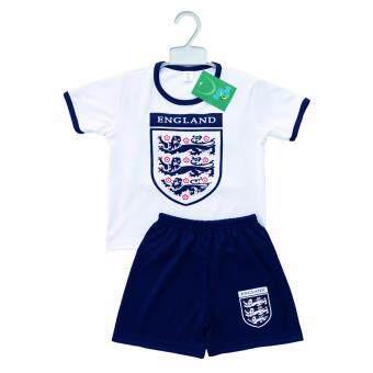 Periquita ไซส์ 1-6 ปี เซ็ต 2 ชิ้น ชุดกีฬาเด็ก ชุดฟุตบอลเด็ก ทีมชาติอังกฤษ สีขาว