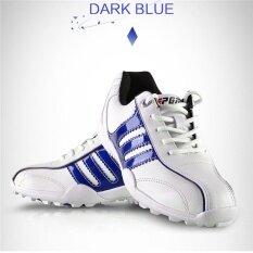 Pgm เด็กผู้หญิงชายรองเท้ากอล์ฟไม่จำกัดเพศกันน้ำระบายอากาศได้รองเท้าผ้าใบกีฬาสำหรับเด็กสีน้ำเงินเข้มขนาด 32-36 - นานาชาติ By Shenzhen Fuzecheng Technology Co.,ltd.