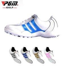 Pgm เด็กผู้หญิงชายรองเท้ากอล์ฟไม่จำกัดเพศกันน้ำระบายอากาศได้รองเท้าผ้าใบกีฬาสำหรับเด็กสีฟ้าขนาด 32-36 - นานาชาติ By Shenzhen Fuzecheng Technology Co.,ltd.