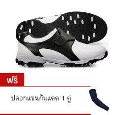 ราคา Pgm รองเท้ากอล์ฟ รองเท้ากันน้ำ Men Golf Shoes Waterproof Microfiber Leather Shoes Pgm กรุงเทพมหานคร