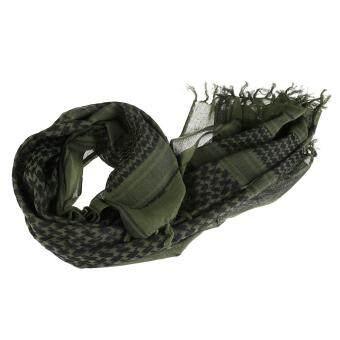 ผ้าคลุมไหล่ผ้าพันคอพัน Keffiyeh กองทัพสีเขียว-ระหว่างประเทศ