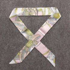 ขาย ซื้อ ออนไลน์ ผ้าพันหูกระเป๋า 2 ชิ้น Ribbon Buckle Scarf Decoration For Bag Handle 2 Pcs