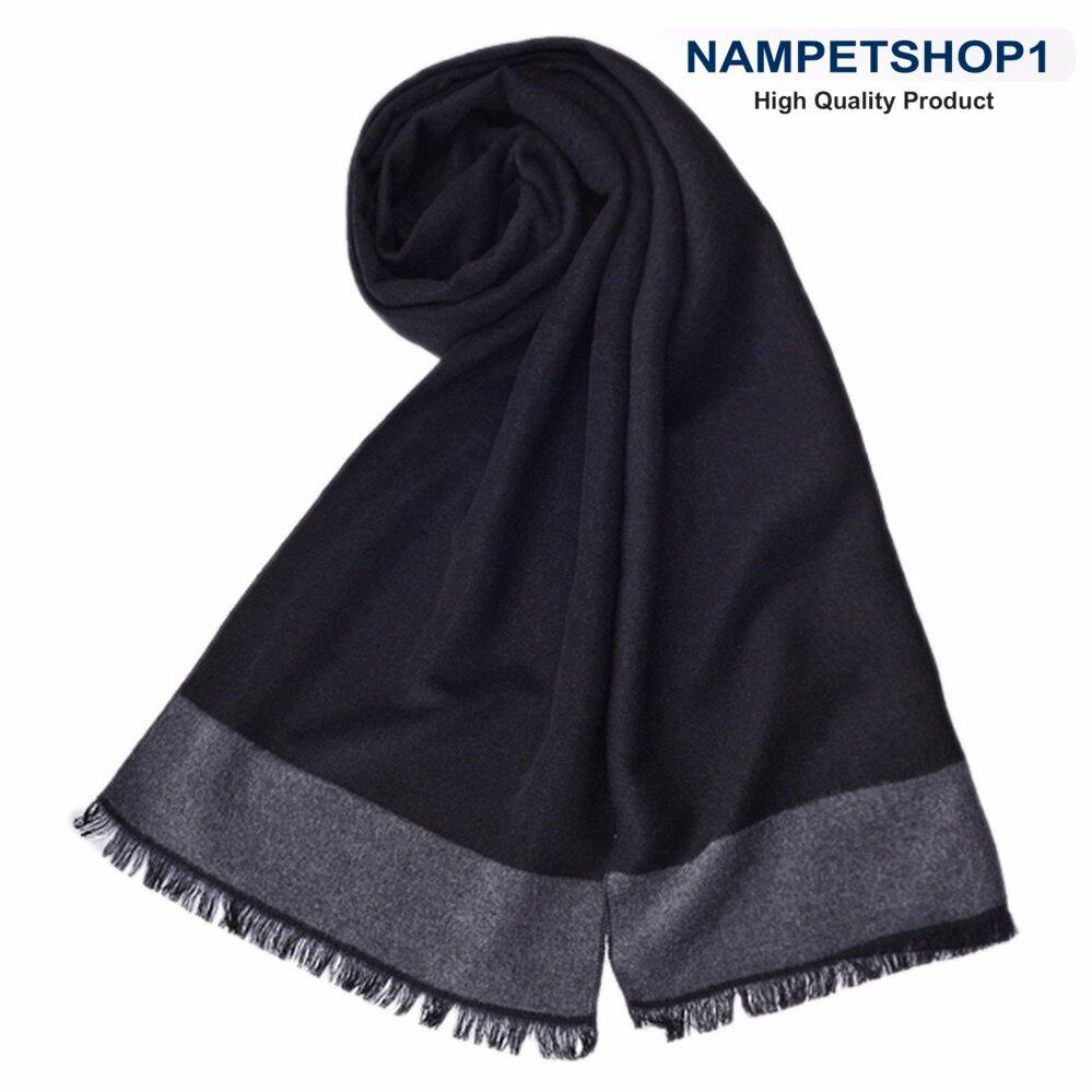 ผ้าพันคอผู้ชาย Autumn and winter British business men scarf (West Grand – Black)